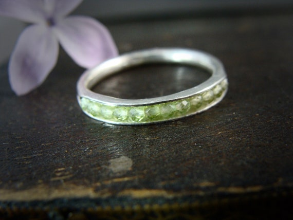 peridot stacking ring.. August birthstone ring, sterling stack ring, handmade ring, rings for women, gemstone stacking ring, birthstone ring