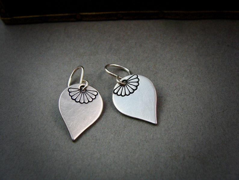 simple earrings petal earrings sterling silver dangles handmade jewelry gifts for her journey petals .. petite earrings