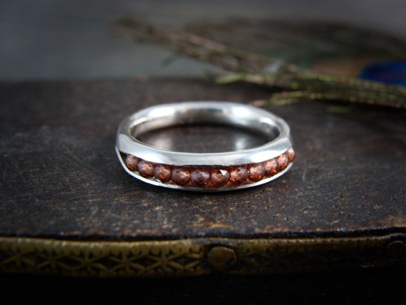 red garnet stackable ring …. gemstone stack ring, sterling ring, handmade rings, gifts for her, garnet ring, rings for women