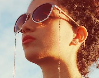 Dainty glasses chain sunglasses chain sunglass strap beaded eyeglass cord eye glasses holder eyeglass lanyard reading glasses gold - Blair