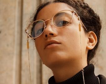 Gold glasses chain eyeglass chain reading glasses chain sunglasses strap sunglass holder eyeglasses cord glasses lanyard for women - Frankie