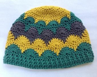 Libertas Hat PDF Pattern Crochet DK 8ply Handmade Scallops Beanie Digital Download Downloadable Instant