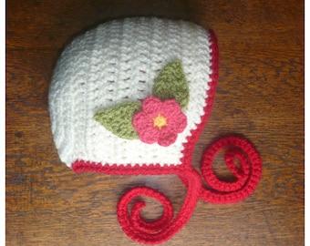 PATTERN PDF Instant Download Baby Bonnet Bonny Bonnie Hat Beanie Crochet Handmade Child Toddler