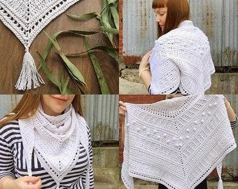 Altair Shawl Crochet Scarf Wrap Digital PATTERN PDF Instant Download