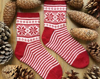 Yule Sock PDF Digital PATTERN Knitting Socks Knit