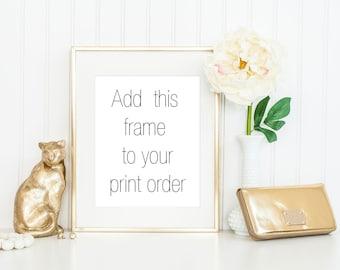 8x10 Gold Frame / 11x14 Gold Frame / 5x7 Gold Frame / Thin Gold Frame
