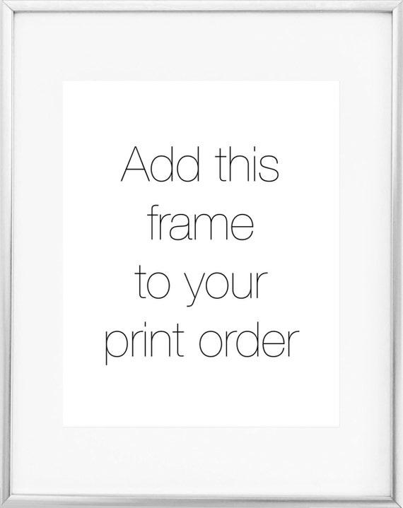 8x10 Silver Frame / 11x14 Silver Frame / Thin Silver Frame /   Etsy