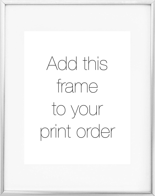 8x10 Silver Frame / 11x14 Silver Frame / Thin Silver Frame / | Etsy