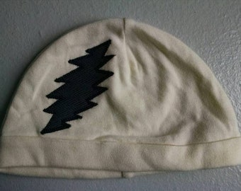 Grateful Dead Hat ~ Baby Hat ~ 0-9M ~ Yellow Baby Hat ~ Yellow and Black Hat