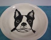 Boston Terrier dog plate