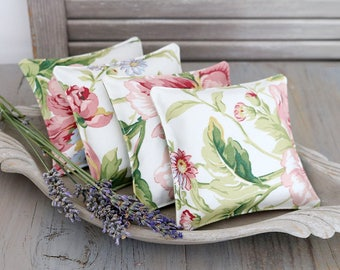 Pink and White Floral Scented Drawer Sachets, Lavender Sachets