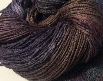 CLEARANCE 50% off DUSK - hand-dyed wool silk bulky yarn