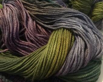 CLEARANCE 50% off LAVENDER FIELDS hand-dyed wool silk bulky yarn