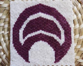 "PATTERN: 2-Drop Even Count Peyote Stitch Mini-Tapestry, ""Lunula / Luna"", 2 Colors"