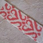 Pattern, 2-Drop Peyote Stitch Cuff Bracelet, Stylized Hearts, Instant Download