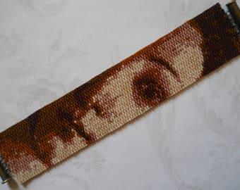 Pattern: 2-Drop Even Count Peyote Stitch Bracelet, Botticelli's Venus, Instant Download