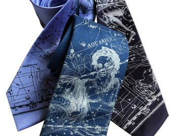 a09d87375777e0 Aquarius Necktie. Zodiac Constellation