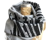UFO Redacted Scarf, Declassified NSA Memo Linen-Weave Pashmina. Aliens! Wrap yourself in a government coverup. Conspiracy theorist gift.