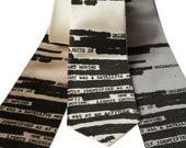 UFO Redacted Necktie, Declassified NSA Memo Tie. Aliens! Conspiracy theorist gift. Choose standard, narrow or skinny or XL.