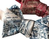 San Francisco Bow Tie. Bay Area, SF California, map bow tie, San Francisco Wedding, bow tie for groomsmen, self tie bow tie, map bow tie
