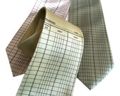 Accountant Necktie. Ledger Paper tie. Accounting gift, tax professional, CPA gift, tax preparer, bookkeeper gift tax season gift. Men's tie.