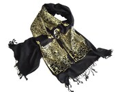 Circuit Board Scarf. Computer science, electrical engineering gift. For men or women. Bamboo pashmina. Black & gold and more!