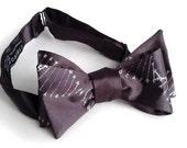 DNA Double Helix self tie bow tie. Genetic code men's bowtie. Science teacher gift, biology, chemistry, genetic researcher, doctor present