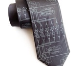 Spark Plug Necktie. V6 Distributor Assembly men's tie. Detroit automotive history. Auto enthusiast gift, car guy gift. Your choice of colors