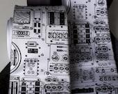 Rocket Science Tie. NASA Apollo Cockpit necktie. Space enthusiast mens gift. Black silkscreen print. Choose standard, narrow or skinny size.