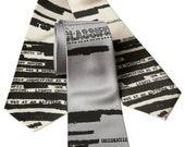 UFO Redacted Silk Necktie, Declassified NSA Memo Tie. Aliens! Conspiracy theorist gift. Choose standard or narrow.