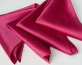 Plain Pocket Squares, solid color mens handkerchief. Satin wedding hanky, pink pocket square & more! No print pocket square, mens hanky