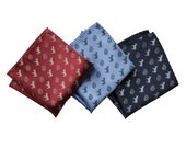 Smart Ass Pocket Square, Brains and Donkeys Pattern Print. Tiny pattern pocket square. Sarcastic genius gift, rebus fan.