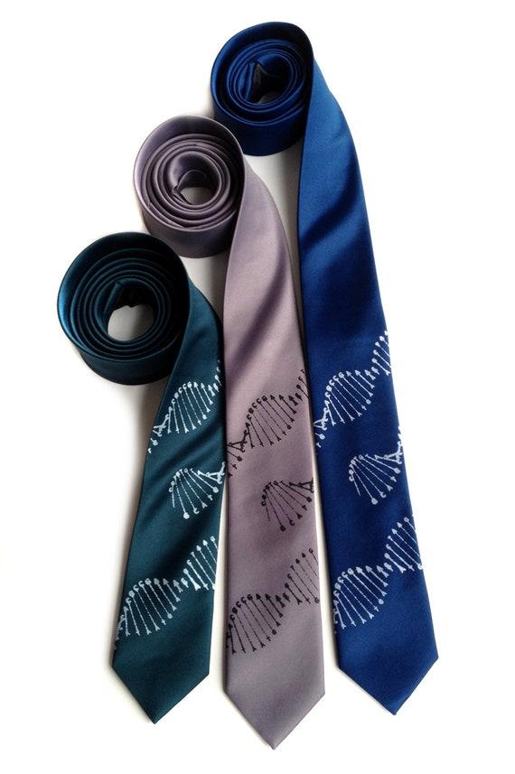Science Tie DNA Strand Neckties Mens Teachers Replicating Neck Tie Brand New