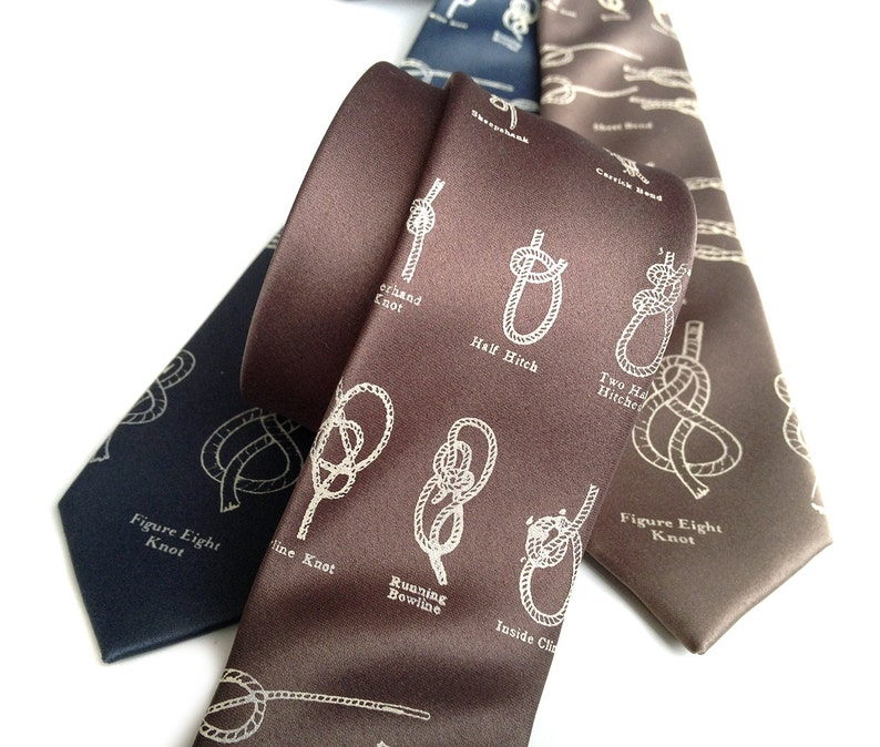 b9641f352620 Boy Scout Knots Necktie. Knot tying diagram tie. Sailing knots | Etsy