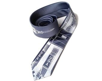 Rocket necktie. NASA Saturn V silkscreened tie. Space Program necktie. Choose standard or narrow men's tie in microfiber.