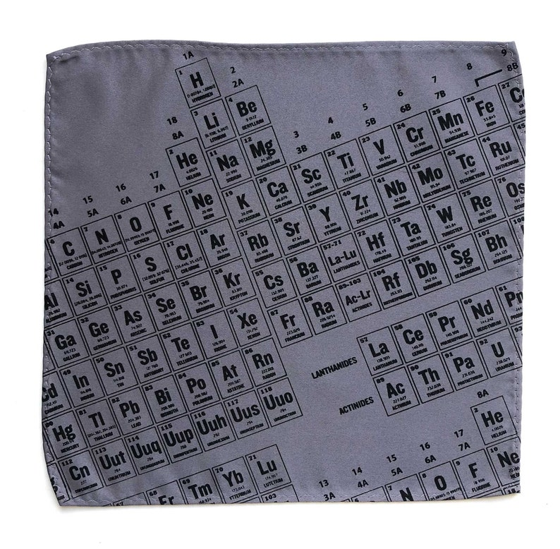 Periodic Table Pocket Square chemistry teacher gift science teacher gift Periodic Table of the Elements boyfriend gift nerd wedding