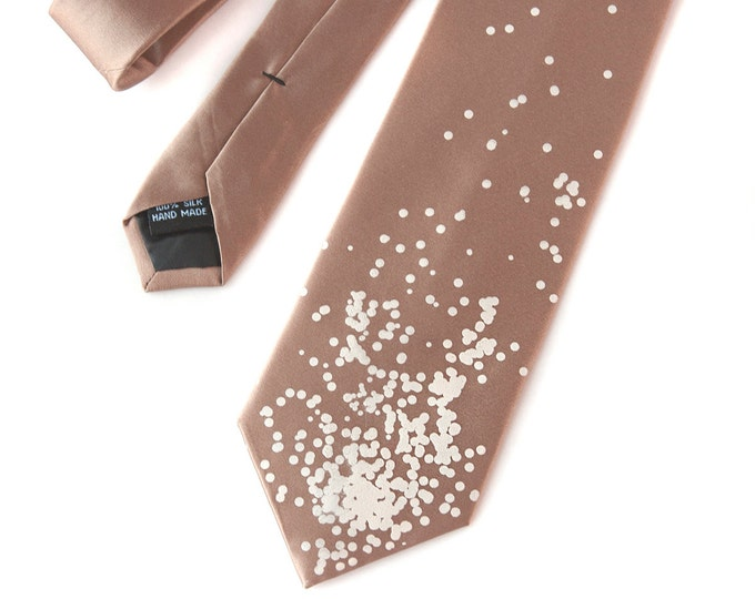 Champagne Bubbles Tie. Wine country, Napa wedding at winery, engagement party, rose gold wedding, gift to groom from bride. Grooms tie