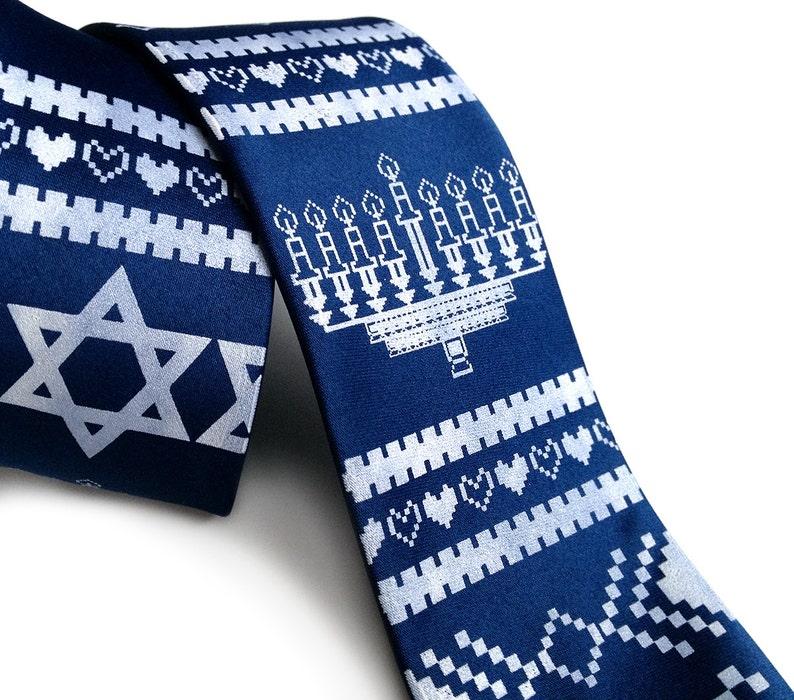 for teens for men Funny Jewish gift Hanukkah Tie for Men Hanukkah gift ideas for boyfriend for brother Hanukkah Sweater Necktie