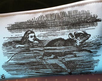 Alice & the Mouse pencil case - zipper pouch
