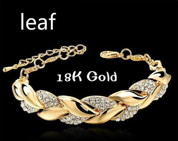 Bracelet With a Lifetime of Love Silver Plated with 18 K Gold Austrian Crystals