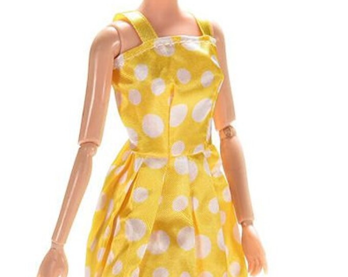 Fashion Barbie Doll Short Summer Dress and Matching Shoes