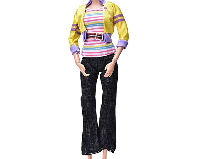 Barbie Pant Set With Jacket and Matching Shoes