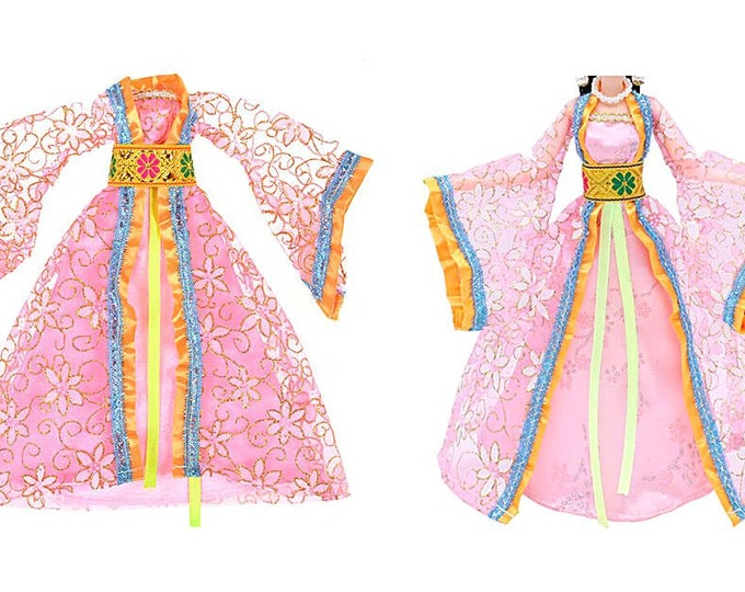 Barbie Japanese Kimono Coat Gown Obie Shoes