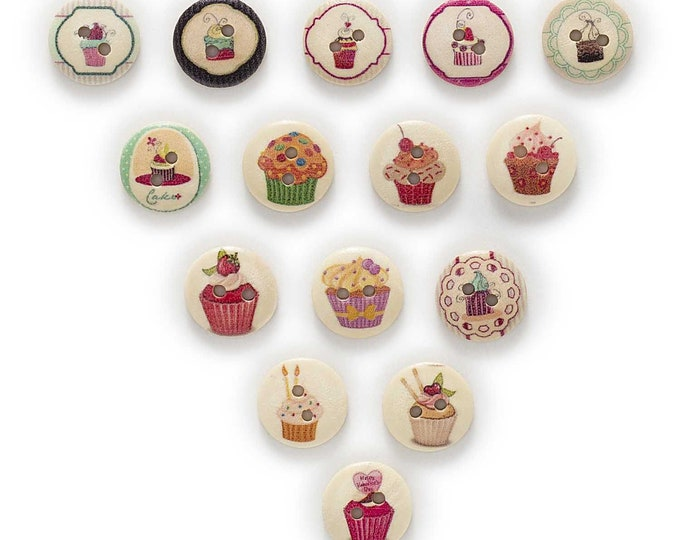 Sweet Treats Buttons set of 10 / HH