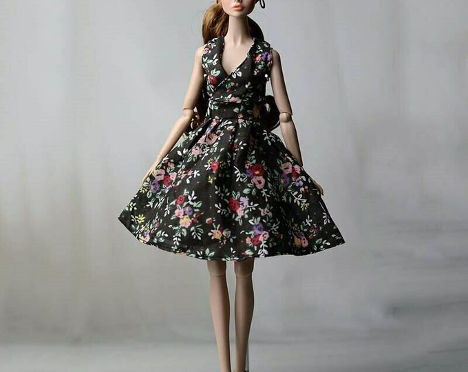 Barbie Doll Clothes Beautiful Short Gown and Shoes