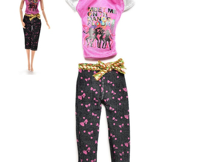 Barbie Fashion  Doll 2 Piece Capri Set and Shoes