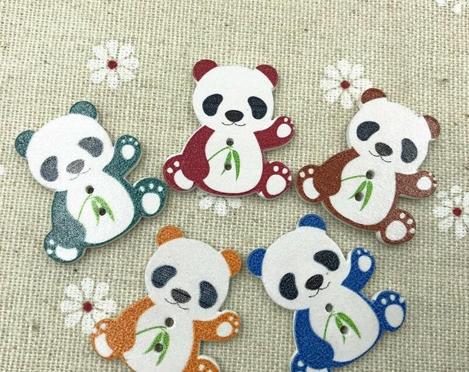 Panda Buttons set of 10 /    33