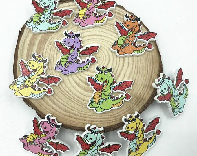Dragon Buttons Dye Cut Set of 10  / 100