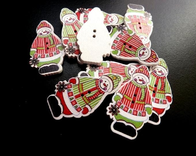 Snowman Dye Cut Buttons  set of 10 /O