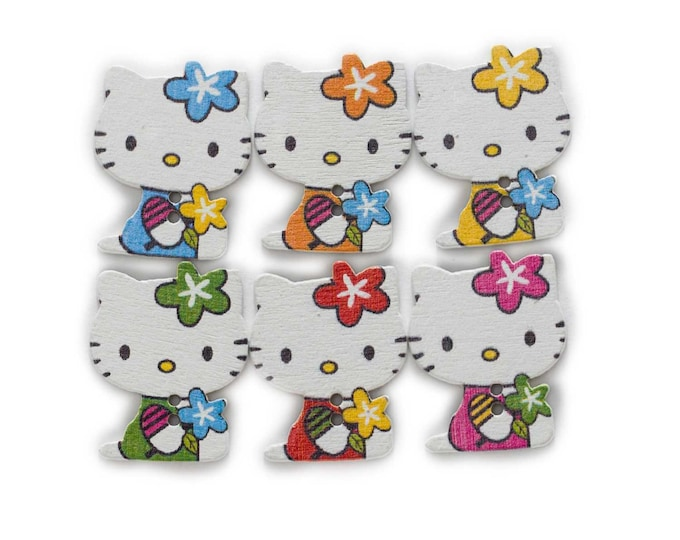 Buttons Little Kittens Dye Cut Set of 10 /113